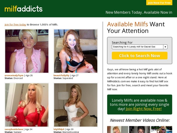Free Milf Addicts Scenes